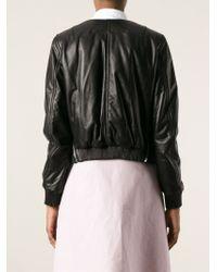 Givenchy | Black Stylised Bomber Jacket | Lyst