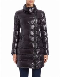 Vince Camuto | Black Zip-front Puffer Coat | Lyst