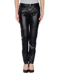 McQ Black Leather Trousers