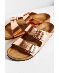 Birkenstock | Arizona Metallic Soft Footbed Sandal | Lyst