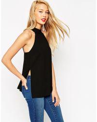 ASOS | Black Tall Halterneck Backless Top | Lyst