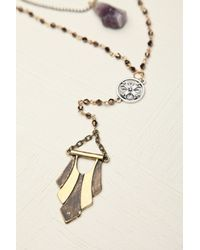 Free People Purple Womens Double Layer Rosary