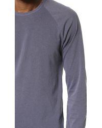 Splendid Mills | Blue Pigment Dye Long Sleeve Raglan Crew Tee for Men | Lyst