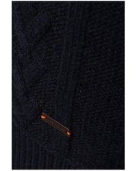 BOSS Orange | Blue 'kaas' | Wool Cotton Cable Knit Sweater for Men | Lyst