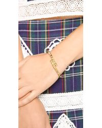 Rebecca Minkoff Metallic Studded Hinge Cuff Bracelet Gold