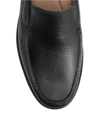 Tommy Bahama | Black Faxon Leather Moc-toe Loafers for Men | Lyst