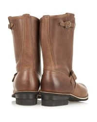 Frye Brown Engineer Leather Boots