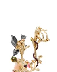Anabela Chan | Multicolor 'Swallow Garland' 18K Gold Diamond Pavé Drop Earrings | Lyst