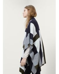Violeta by Mango - Blue Wool-blend Cape - Lyst
