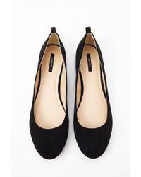 Forever 21 Black Round Toe Ballet Flats
