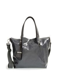 Tod's | Gray 'medium Flower' Satchel | Lyst