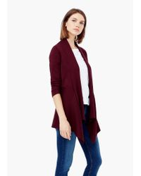 Mango | Purple Waterfall Cardigan | Lyst