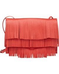Proenza Schouler Red Fringe Small Lunch Bag