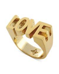 BCBGeneration - Metallic Goldtone Love Ring - Lyst