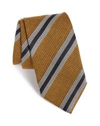 David Donahue | Metallic Stripe Silk Tie for Men | Lyst