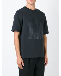 Alexander Wang Black Printed Neoprene T-Shirt for men