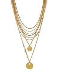 Vince Camuto | Metallic Multi-Chain Nested Necklace | Lyst