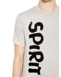 Comme des Garçons Gray Spirit Printed Cotton Jersey T-shirt for men