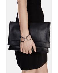 Karen Millen   Metallic Oversize Chain Bracelet   Lyst