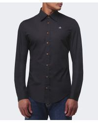 Vivienne Westwood | Black One Button Orb Shirt for Men | Lyst