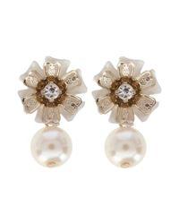 Coast - White Anakin Pearl Earrings - Lyst