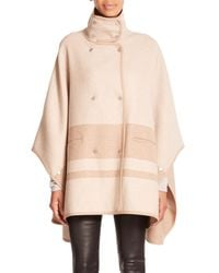 VINCE | Natural Blanket-Striped Cape Coat | Lyst