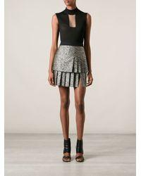 Emanuel Ungaro - Black Pleated Skirt - Lyst