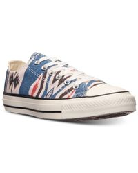 Converse - Natural Women'S Chuck Taylor Ox Photo Real Blanket Casual Sneakers From Finish Line - Lyst