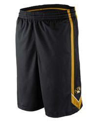 Nike Black Men's Missouri Tigers Dri-fit Tourney Shorts for men