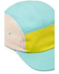 Forever 21 - Blue Colorblocked Five-Panel Hat for Men - Lyst