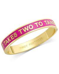 Kate Spade   Pink Gold-tone It Takes Two To Tango Idiom Bangle Bracelet   Lyst
