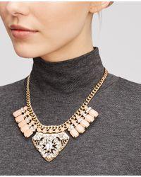 Ann Taylor - Metallic Crystal Plaque Statement Necklace - Lyst