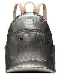 Michael Kors | Metallic Michael Jet Set Item Large Backpack | Lyst