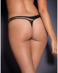 Agent Provocateur Evalyne Thong Black/nude