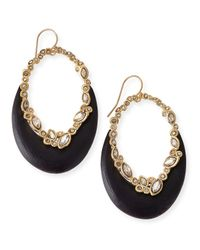 Alexis Bittar - Metallic Crystal-Lace Lucite-Crescent Earrings - Lyst