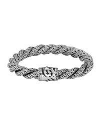 John Hardy - Metallic Palu Silver Large Twist Bracelet - Lyst