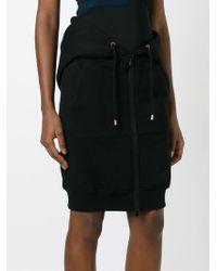 Moschino - Black Hoodie Style Skirt - Lyst