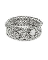 R.j. Graziano | Metallic Beaded Coil Bracelet | Lyst