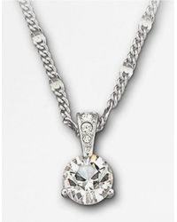 Swarovski Metallic Round Solitaire Crystal Pendant Necklace