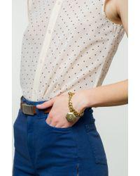 Lulu Frost - Metallic Victorian Plaza Charm Number Bracelet #6 - Lyst