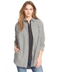 Madewell White 'sunday' Flannel Shirt