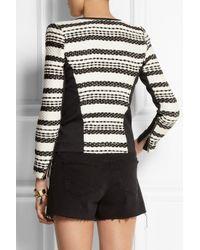 IRO | Black Brockel Leather-Trimmed Bouclã©-Tweed Jacket | Lyst
