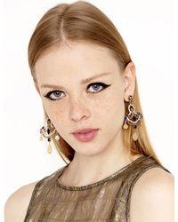 Pixie Market - Metallic Opulence Coin Earrings - Lyst