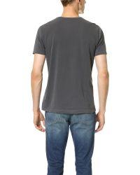 Splendid | Gray Pigment Dyed Crew Neck Tee for Men | Lyst