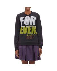 "KENZO - Black ""Forever, No?"" Sweatshirt - Lyst"