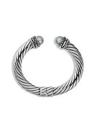 David Yurman - White Crossover Pearl Bracelet - Lyst