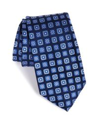 Nordstrom - Blue 'boxed Neat' Floral Medallion Silk Tie for Men - Lyst
