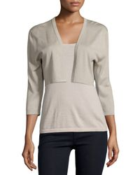Neiman Marcus - Gray Modern Superfine Silk-blend Shrug - Lyst