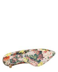 MSGM - Multicolor 80mm Floral Canvas Pumps - Lyst