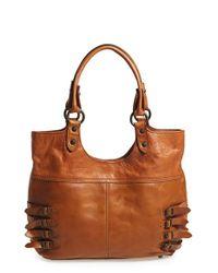 Frye | Brown 'selena' Belted Shoulder Bag | Lyst